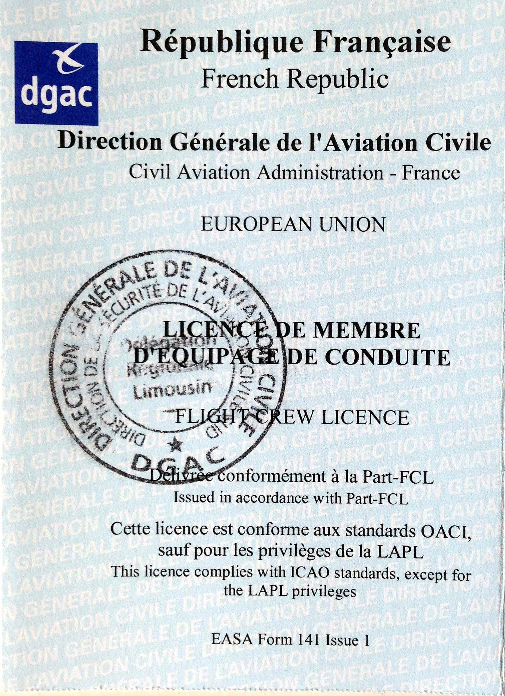 licence Part FCL